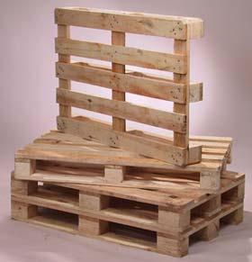 Estrucutra de madera usada como soporte para transportar material